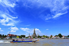 Wat Arun and cloudscape Stock Image