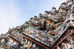 Wat Arun colorful statues Stock Photography