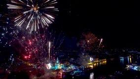Wat Arun Countdown 2016 BANGUECOQUE, TAILÂNDIA vídeos de arquivo