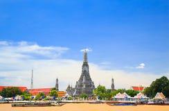 Wat Arun, der Tempel von Dämmerung, Bangkok, Thailand Stockfotografie