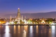 Wat Arun dusk Στοκ φωτογραφία με δικαίωμα ελεύθερης χρήσης
