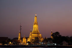 Wat Arun in the evening. Royalty Free Stock Photo