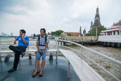 Wat Arun from ferry boat Royalty Free Stock Image