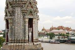 Wat arun and the grand palace bangkok thailand Stock Photos