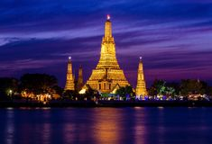 Wat Arun historical park Royalty Free Stock Photo