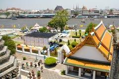 Wat Arun i Bangkok Arkivbilder