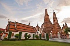 Wat Arun (il tempiale dell'alba) a Bangkok Tailandia Fotografia Stock Libera da Diritti
