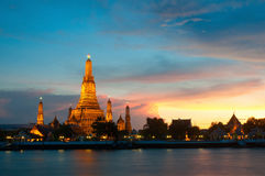 Wat Arun il tempio di Dawn Bangkok Thailand Fotografia Stock