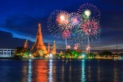 Wat Arun Landmark de Tailandia en noche Fotos de archivo