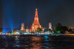 Wat arun, landmark temple in Bnagkok also call temple of dawn Stock Images