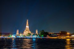 Wat arun, landmark temple in Bnagkok also call temple of dawn Royalty Free Stock Photo