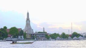 Wat Arun landmark travel. In Thailand stock video footage