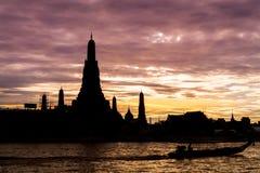 Wat Arun lub świt świątynia fotografia stock
