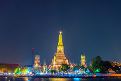 Wat-arun, Marksteintempel in Bnagkok nennen auch Temple of Dawn Stockfoto