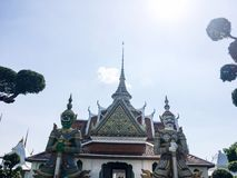 Wat Arun. This monastery is wellknown in English as the Temple of Dawn stock image