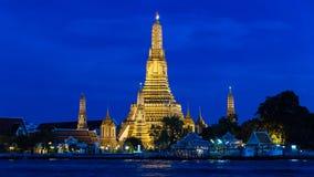 Wat Arun - Nacht Royalty-vrije Stock Foto's