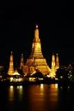 Wat Arun nachts Lizenzfreies Stockfoto