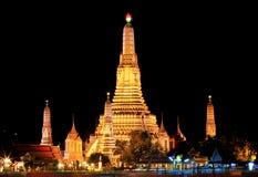 Wat Arun at night. Stock Images