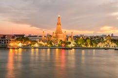Wat Arun in night ,Bangkok city ,Thailand Stock Images