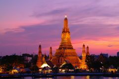 Wat Arun at night, Bangkok, Thailand Royalty Free Stock Image