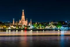 Wat arun at night in Bangkok, Thailand. Famous place in Bangkok. Royalty Free Stock Images