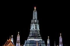 Wat Arun night scenes on white light stock photography