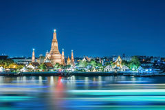 Wat Arun night view Temple Royalty Free Stock Photo