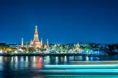 Wat Arun night view Temple Royalty Free Stock Image