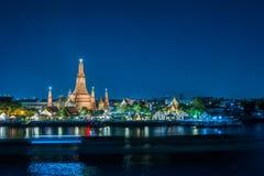 Wat Arun night view Temple Stock Photography