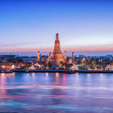 Wat Arun night view Temple Stock Photography