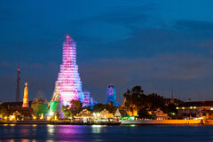 Wat Arun Po zmierzchu Obraz Stock