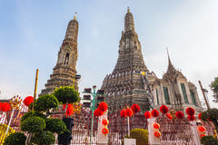Wat Arun Prangs Stock Photo