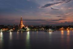 Sunset over Wat Arun, Bangkok, Thailand Royalty Free Stock Image
