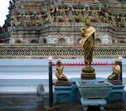 WAT ARUN PRYAING TIME. Wat Arun of Temple of Dawn , is one of landmark of Bangkok.Built first by hindu but rebuilt by buddhist, on the left bank of Chao Phraya Royalty Free Stock Photos