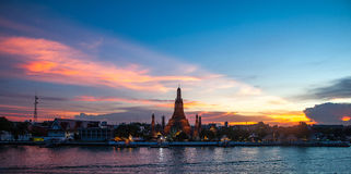Wat Arun Rachawararam Image libre de droits