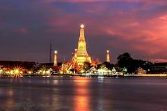 Wat Arun Rajwararam. Shoot From River Side royalty free stock photography