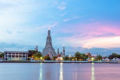Wat Arun Ratchawaram, висок a красивый в Таиланде Стоковая Фотография