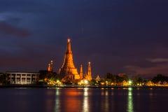 Wat Arun Ratchawaram, висок a красивый в Таиланде Стоковое Фото