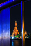 Wat Arun Ratchawararam Ratchawaramahawihan at night Royalty Free Stock Image
