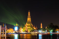 Wat Arun Ratchawararam Ratchawaramahawihan at night Royalty Free Stock Photo