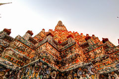 Wat Arun Ratchawararam Ratchawaramahawihan(Temple of Dawn) is a Buddhist temple  in Bangkok , Thailand. One  of the  most stunning temples in Bangkok Royalty Free Stock Photo