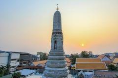 Wat Arun Ratchawararam Ratchawaramahawihan (Temple of Dawn) est un temple bouddhiste à Bangkok, Thaïlande images libres de droits