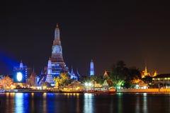 Wat Arun Ratchawararam Ratchawaramahawihan(Temple of Dawn) at night Stock Photos