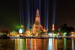 Wat Arun Ratchawararam Ratchawaramahawihan(Temple of Dawn) at night Royalty Free Stock Images