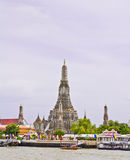 Wat Arun Ratchawararam Ratchawaramahawihan and Thai culture Stock Image