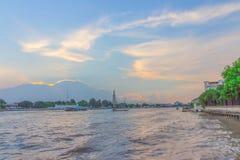 Wat Arun RatchawararamUnseen Thailand. Wat Arun Ratchawararam Ratchawaramahawihan / Wat Arun public Landmark of Thailand in Sunset time Royalty Free Stock Photo