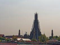 Wat Arun Renovation Arkivbild