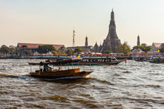 Wat Arun from the river stock photography