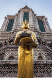 Wat Arun statue Stock Photos