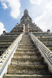 Wat Arun Steps - Bangkok, Thailand Stock Photo
